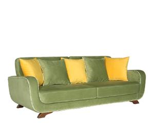 Sofá de 3 plazas Frank – verde y amarillo