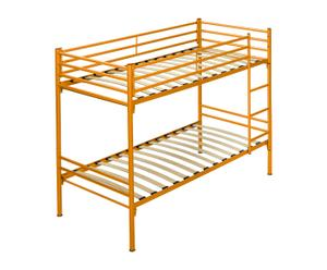 Litera de metal y láminas de abedul - naranja