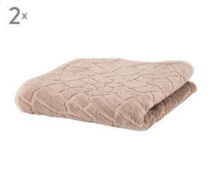 Set de 2 toallas de ducha en algodón 100% Pattern III - 70x140 cm