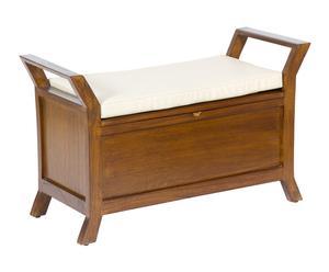Piecero con espacio de almacenaje en madera de acacia