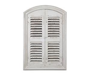 Espejo de madera Ventana - blanco roto