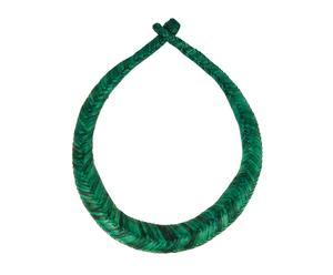 Collar trenzado de cuero - Ø22cm