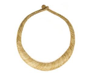 Collar de cuero trenzado de Burkina Faso II - beige