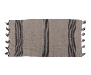 Manta de lana con pompones - 266x155 cm