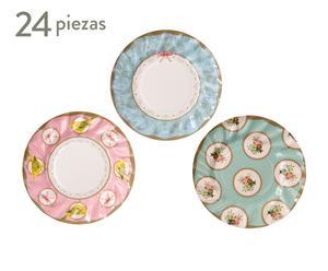 Set de 24 platos de papel I - Ø20 cm