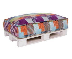 Set de puf Bea XXL y palet, multicolor