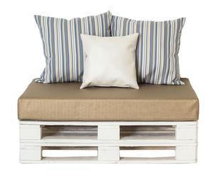 Sofá impermeable con cojines decorativos II