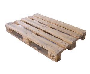 Palet de madera de abeto reciclada, natural - 120x80 cm