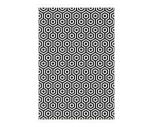 Papel pintado Hexágono - negro y blanco