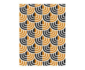 Papel pintado Espiga - naranja y negro