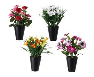 Set de 4 plantas artificiales en poliéster I
