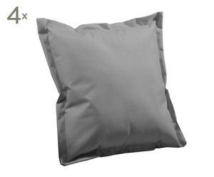 Set de 4 cojines impermeables, gris – 40x40 cm
