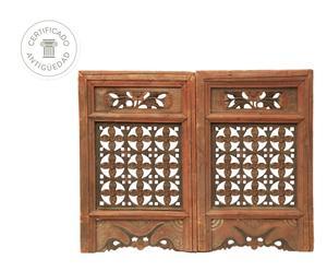 Set de 2 ventanas de Mongolia en madera de olmo