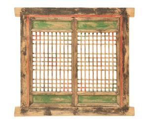 Ventana antigua de Shanxi en madera de olmo