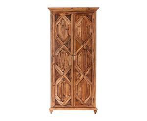 Armario de 2 puertas en madera de pino