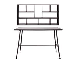 Set de escritorio y estantería de pared en hierro envejecido