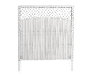 Cabecero en ratán blanco – cama de 90cm