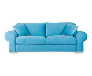 Sofá de poliéster- azul turquesa