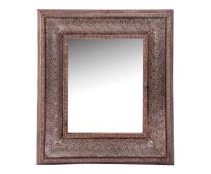 Espejo de pared en madera DM, marrón - 80x94 cm