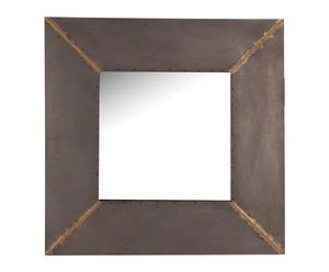 Espejo de pared en metal, gris - 80x80 cm