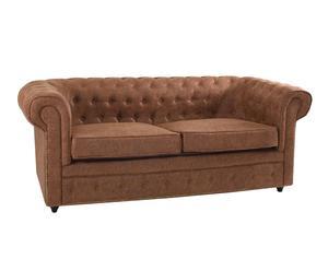 Sofá de 3 plazas Ernest - marrón