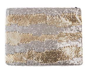 Cartera de malla de metal Shiny - dorado