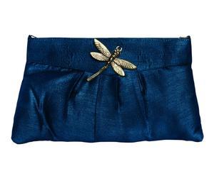 Cartera con broche Libélula - azul