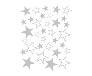 Vinilo adhesivo Estrellas, gris – 34x44