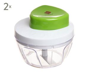Set de 2 mini cortadores en plástico - verde
