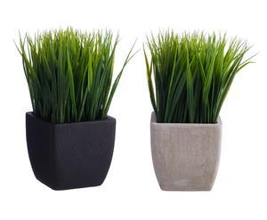Set de 2 plantas artificiales en maceta - altura 20 cm