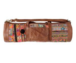 Bolsa de yoga de cuero y algodón Munira