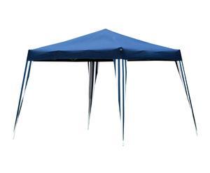 Toldo plegable en aluminio y textil, azul - 300x300 cm