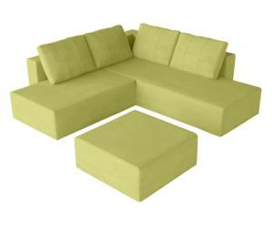 Sofá/cama modular Gemini M, verde - chaise longue derecha