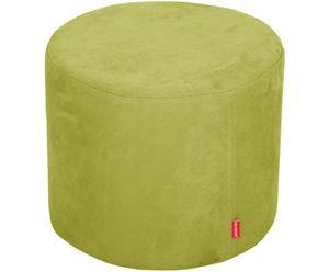 Puf de madera de haya, microfibra y algodón, verde - Ø43 cm