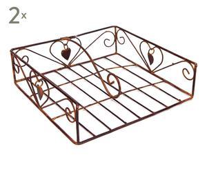 Set de 2 servilleteros de metal - 20x20 cm
