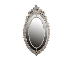 Espejo en resina Greta, gris - 100x106,7 cm