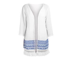 Kimono de rayón - azul y blanco