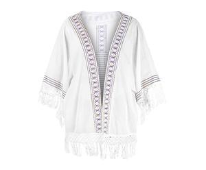 Kimono de algodón - blanco marfil