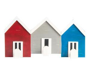 Perchero de madera DM con 3 colgadores Casas