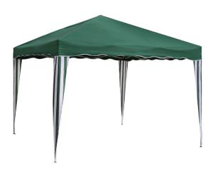 Pérgola de hierro y poliéster Classic, verde - altura 240 cm