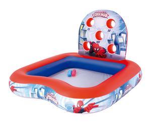 Piscina infantil hinchable interactiva Spiderman - 155x155x99 cm