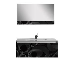 Mueble de lavabo con espejo Bubble - negro