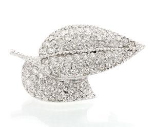 Broche de rodio y cristales Swarovski Caoimhe