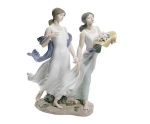 Figura de porcelana Rosas de verano