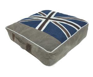 Cojín de suelo de tela vaquera y guata Londres – 50x50 cm I