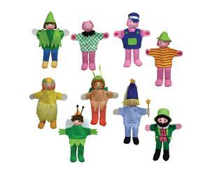 Set de 9 marionetas de juguete Puppets - +3 años