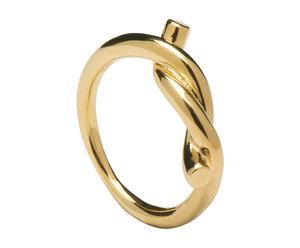 Anillo en plata de ley 925 bañado en oro Noah Gold, Talla 14