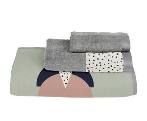 Juego de toallas de algodón Geometric IV - 3 piezas