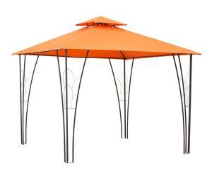 Pérgola de metal y lona Gazebo - naranja