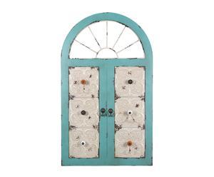 Ventana decorativa madera y metal Window - 61x101 cm